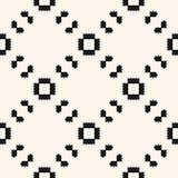 Het geometrische etnische ornament met scherpe vormen, herhaalt tegels, diagonaal net Royalty-vrije Stock Foto