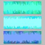 Het geometrische geplaatste ontwerp van het bannermalplaatje - horizontale vector grafische inzameling Stock Fotografie