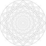 Het geometrische herhalen trekt hypnotic lijnen stock illustratie