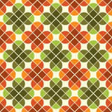 Het geometrische naadloze mozaïek betegelt patroon met gestileerde bloemen Stock Afbeelding