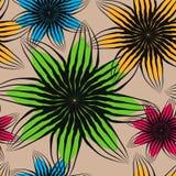 Het geometrische naadloze patroon, abstracte het betegelen achtergrond, vector herhaalt eindeloze behangillustratie Bloemenblader stock illustratie