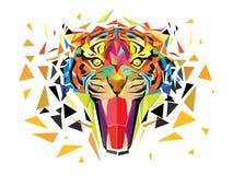 Het geometrische ontwerp vectoreps10 van Tiger Lowpolygon royalty-vrije illustratie