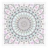 Het geometrische ornament, ontwerpt moderne kaart Royalty-vrije Stock Foto's