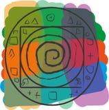 Het geometrische patroon op heldere achtergrond Stock Fotografie