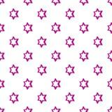 Het geometrische patroon van de cijferster, beeldverhaalstijl royalty-vrije illustratie