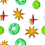 Het geometrische patroon van de cijferster, beeldverhaalstijl vector illustratie