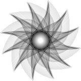 Het geometrische symbool van de de sterastrologie van het patroonpictogram pentagram Royalty-vrije Stock Afbeelding