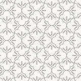 Het geometrische vectorpatroon, die lineaire halve die cirkel herhalen als abstracte bloemblaadjes wordt gecombineerd bloeit Graf royalty-vrije illustratie