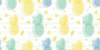 Het geometrische vectorpatroon van pretananassen royalty-vrije illustratie