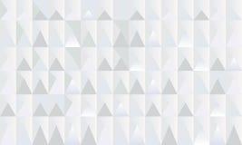Het geometrische zwart-wit patroon van de driehoeksveelhoek Stock Foto's