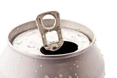 Het geopende aluminium kan Royalty-vrije Stock Foto