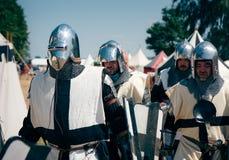 Het gepantserde marcheren Teutons Royalty-vrije Stock Foto's