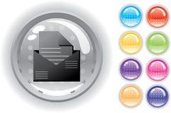 Het geplaatste pictogram en de knopen van Internet Stock Foto