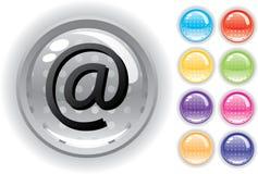 Het geplaatste pictogram en de knopen van Internet Royalty-vrije Stock Afbeeldingen