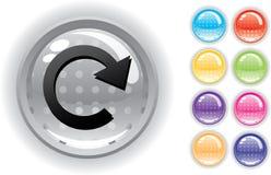 Het geplaatste pictogram en de knopen van Internet Royalty-vrije Stock Fotografie