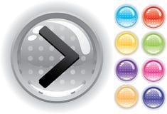 Het geplaatste pictogram en de knopen van Internet Stock Afbeeldingen