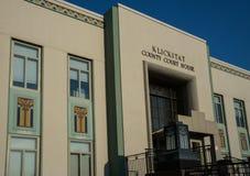 Het Gerechtsgebouw van de Klickitatprovincie in Goldendale, Washington Stock Foto's