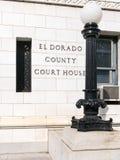 Het gerechtsgebouw van de Provincie van Gr Dorado, Californië stock afbeeldingen
