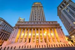 Het Gerechtsgebouw van Verenigde Staten in NYC stock foto