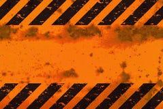 Het geroeste Teken van de Strepen van het Gevaar Stock Fotografie