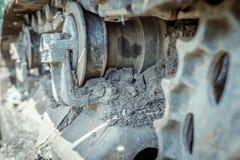 Het geroeste Vuil behandelde Industriële Machine royalty-vrije stock foto's