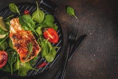 Het geroosterde filethaakwerk van het zalmlapje vlees Stock Fotografie