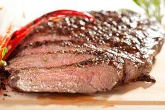Het geroosterde Lapje vlees van de Flank royalty-vrije stock afbeelding