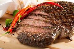 Het geroosterde Lapje vlees van de Flank stock foto