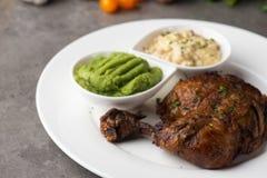 Het geroosterde lapje vlees van de kippentrommelstok royalty-vrije stock foto