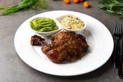 Het geroosterde lapje vlees van de kippentrommelstok royalty-vrije stock afbeelding
