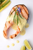 Het geroosterde Lapje vlees van de Zalm Royalty-vrije Stock Foto