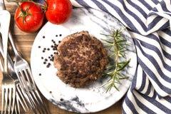 Het geroosterde pasteitje van de het rundvleeshamburger van Noord-Ierland royalty-vrije stock foto's