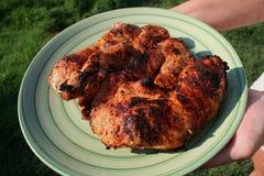 Het geroosterde varkensvleeslendestuk hakt 2 Stock Foto's