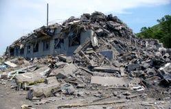 Het geruïneerde huis. Stock Foto