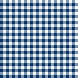 Het geruite BLAUW van tafelkledenpatronen - eindeloos Royalty-vrije Stock Afbeelding