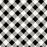 Het geruite naadloze patroon van de gingangstof in blauw grijs en wit, vector vector illustratie