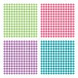 Het geruite naadloze patroon van het picknick kokende tafelkleed Stock Foto's