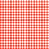 Het geruite ROOD van tafelkledenpatronen - eindeloos Stock Afbeelding