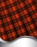 Het geruite Schotse wollen stof van Wallace vector illustratie