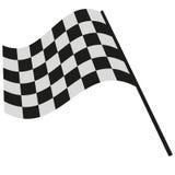 Het geruite vlag rennen Stock Foto