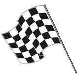 Het geruite vlag rennen Stock Fotografie