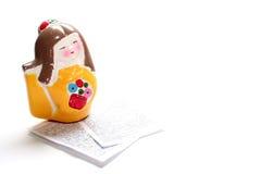 Het geschilderde Beeldje van de Geisha Stock Fotografie