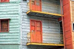 Het geschilderde huis van La boca in Buenos aires royalty-vrije stock foto