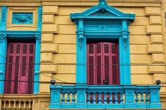 Het geschilderde huis van La boca in Buenos aires stock foto's