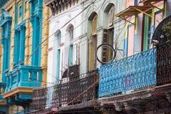 Het geschilderde huis van La boca in Buenos aires royalty-vrije stock afbeeldingen