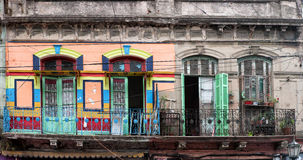 Het geschilderde huis van La boca in Buenos aires royalty-vrije stock foto's