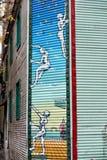 Het geschilderde huis van La boca in Buenos aires stock afbeelding
