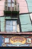 Het geschilderde huis van La boca in Buenos aires Royalty-vrije Stock Fotografie