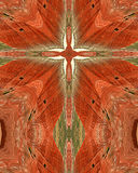 Het geschilderde kruis van de Woestijn Royalty-vrije Stock Afbeeldingen