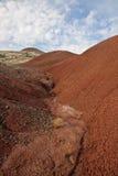 Het geschilderde Landschap van Heuvels Stock Foto